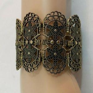 Women Gold Stretch Bracelet Fashion Jewelry